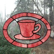 Stained Glass Teacup – Red Edge
