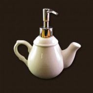 Ceramic Teapot Liquid Soap Dispenser
