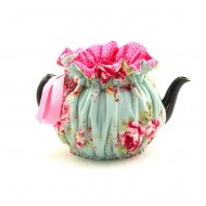 Wrapping Tea Cozy (6-cup) – English Rose Blue