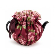 Wrapping Tea Cozy (4-cup) – Burgundy Rose