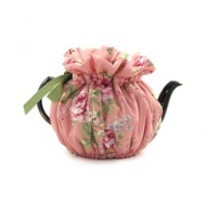Wrapping Tea Cozy (6 cup) – English Rose, pink
