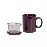 Infuser Mug with Lid ~ Aubergine