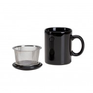 Infuser Mug with Lid ~ Black