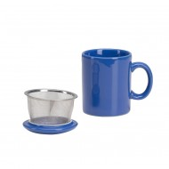 Infuser Mug with Lid ~ Blue