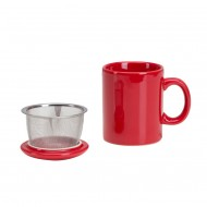 Infuser Mug with Lid ~ Red