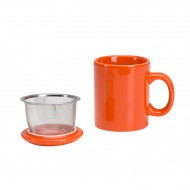 Infuser Mug with Lid ~ Orange