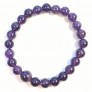 Amethyst Stretchy Beaded Mala Bracelet