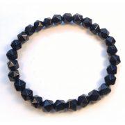 Black Tourmaline Stretchy Beaded Bracelet