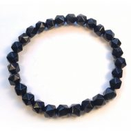 Black Tourmaline Stretchy Beaded Bracelet