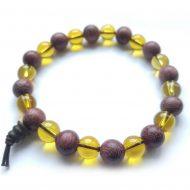 Citrine & Purpleheart Bracelet
