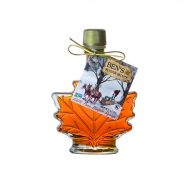Pure Maple Syrup in a Glass Leaf (1.7 oz)